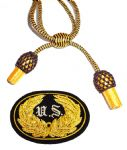 Officers Black & Gold Hat Cord And Sewn US Badge